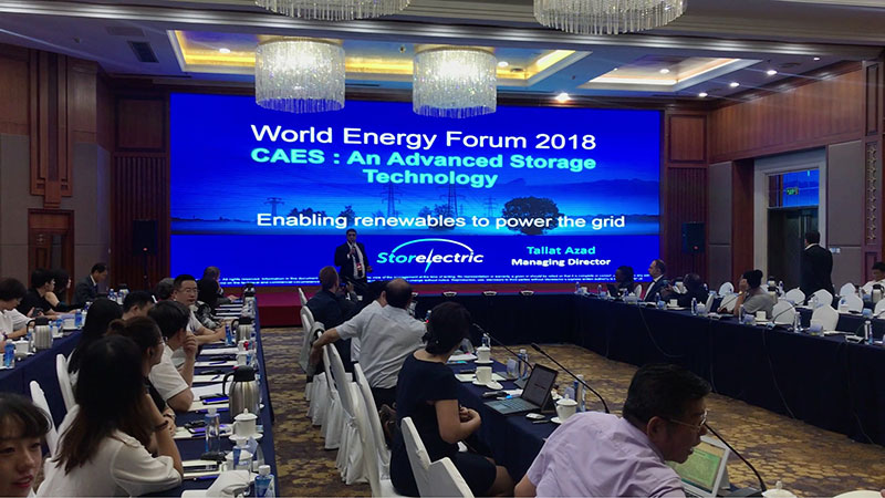 Storelectric Ltd at the World energy Forum 2018