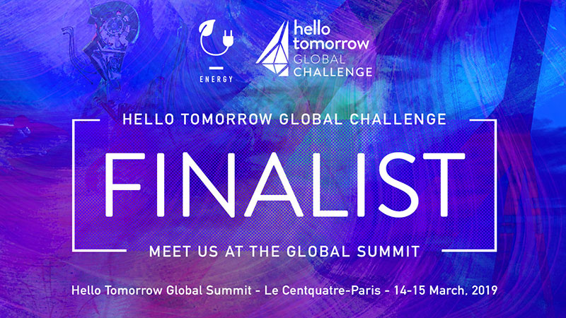 Global Finalist in the Energy track!